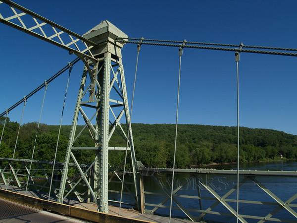 looking downriver from Riegelsville bridge