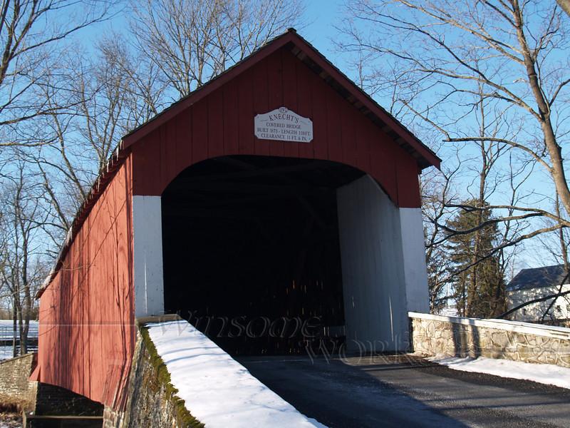 Knecht's Bridge, Bucks County PA on a snowy day (facing North)