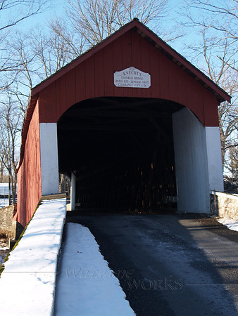 (new) Knecht's Bridge, Bucks County PA, on a snowy day (facing North)