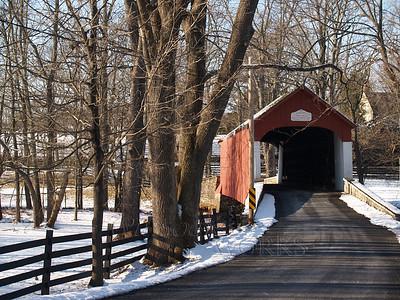 Knecht's Bridge, Bucks County PA on a snowy day