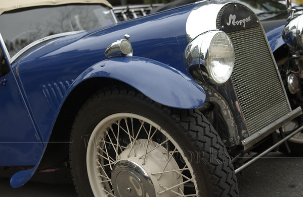 1948 Blue Morgan 3-Wheeler Front End