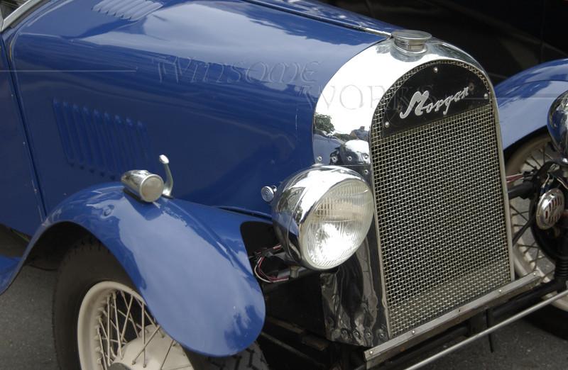 1948 Blue Morgan 3-Wheeler Front End
