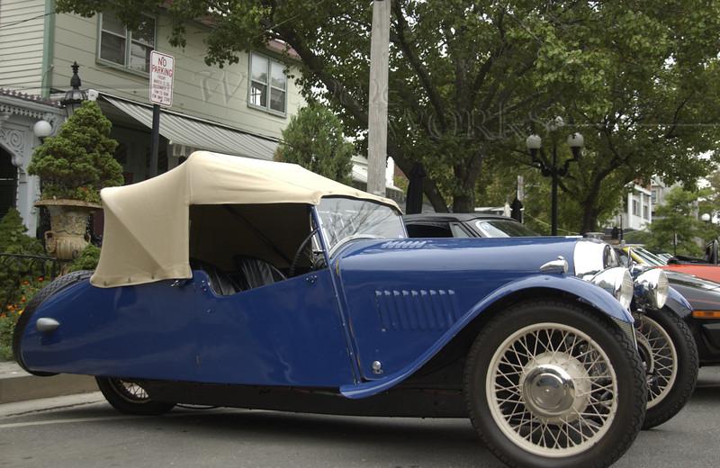"""1948 Blue Morgan 3-Wheeler """"Barrelback"""""""