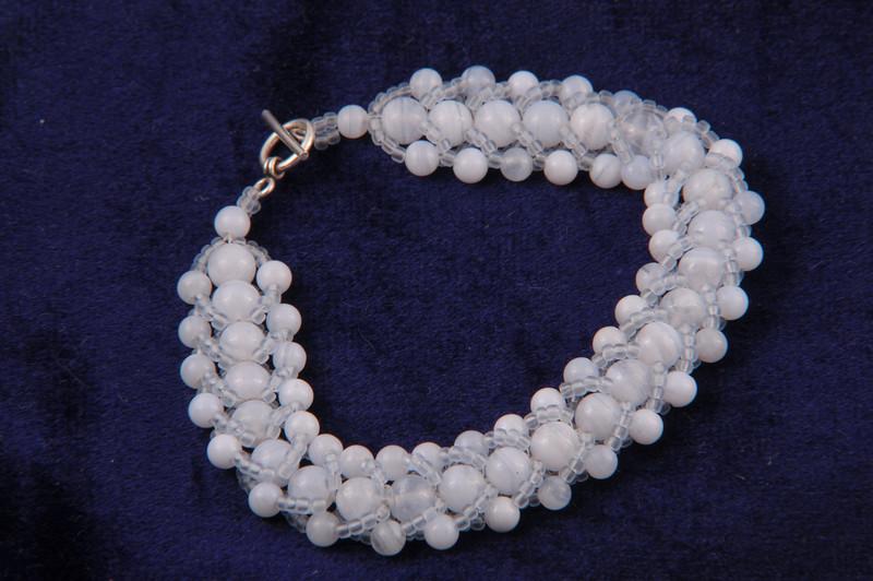Blue Lace Aget Crystal Bracelet