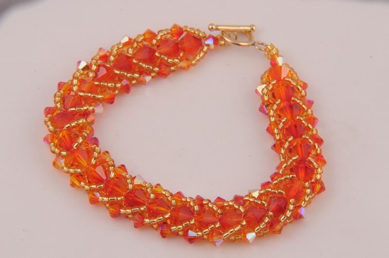 Crystal Fire Opal Bracelet