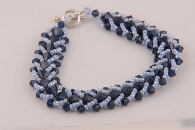 Indigo Swarovski Crystal Bracelet