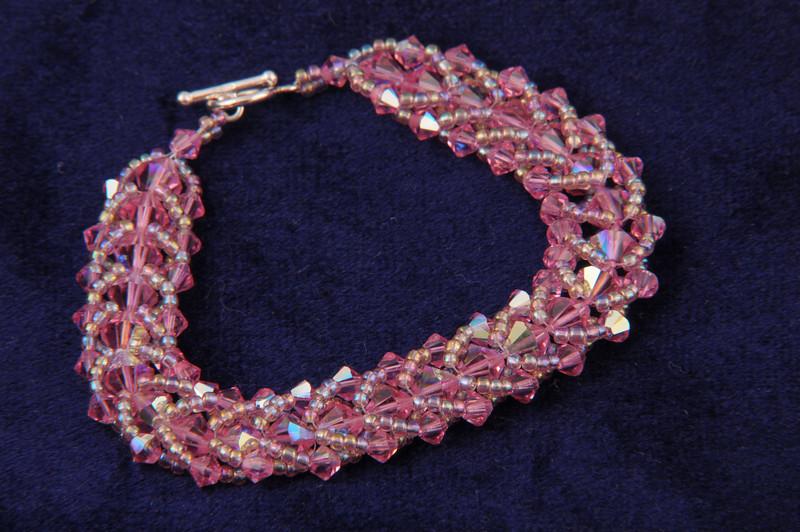 Crystal LightRose AB Bracelet