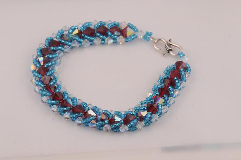 Siam AB Swarovski Crystal Bracelet