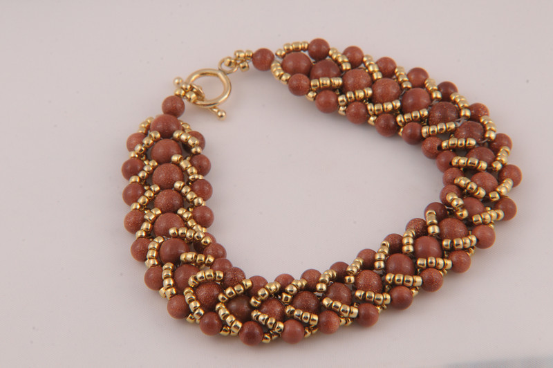 Brown Goldstone Crystal Bracelet