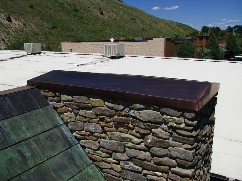 4' X 6' PATINAD COPPER WALL CAP. Jackson WY