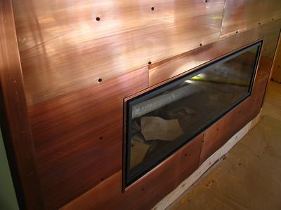 FIREPLACE - interior Design - Patinad Copper