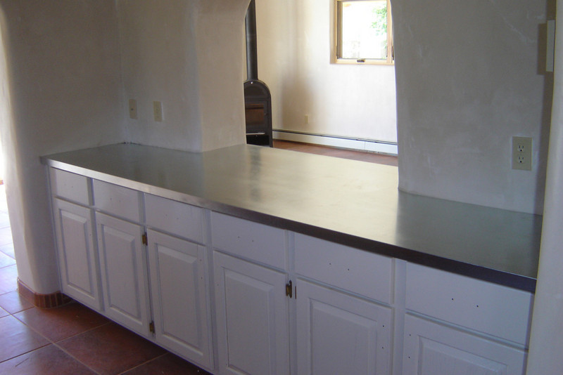GALVANIZED COUNTERTOP. Taos NM - with Randy William Cisneros