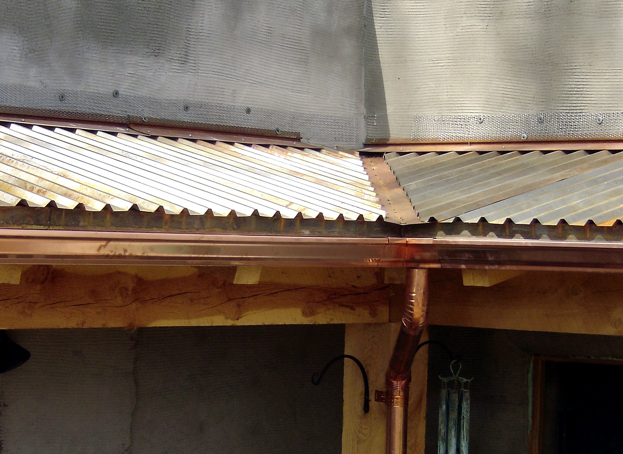 IRON PANELS, TRIM, VALLEY and DRIP; COPPER SEAMLESS GUTTER and ROUND DOWNSPOUT - with Randy William Cisneros