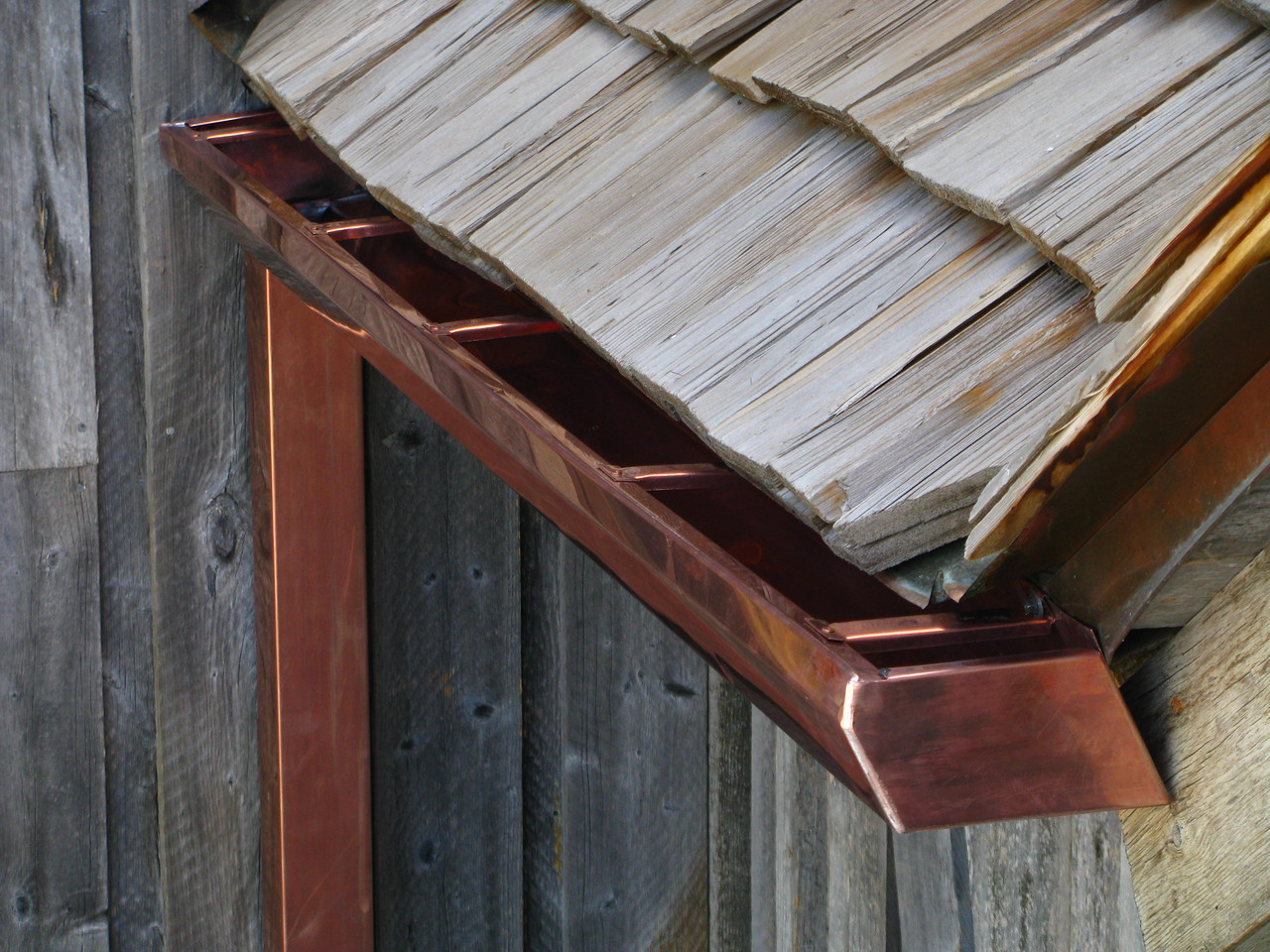 CUSTOM COPPER GUTTER - Jackson WY