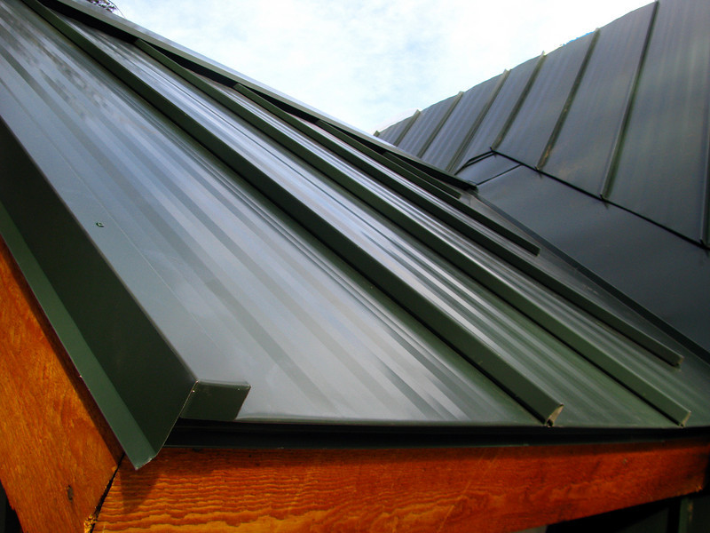 CASSELL'S SNAP-LOCK ROOF in Wilson WY - with Randall Foes<br /> Gable Trim, Valley and Ridge detail on dormer.