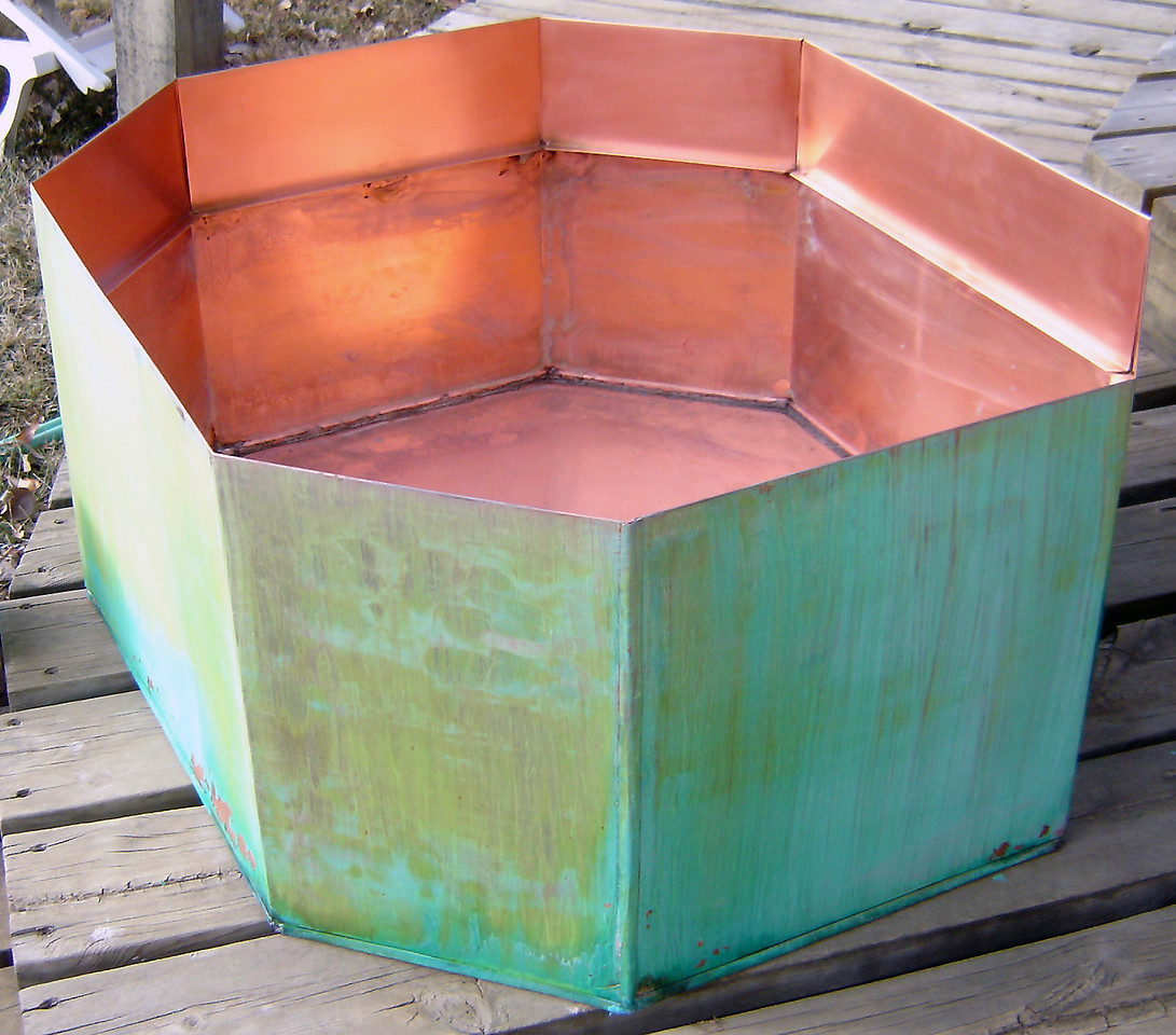 Patinad Copper Octagon for a garden - with Randy William Cisneros
