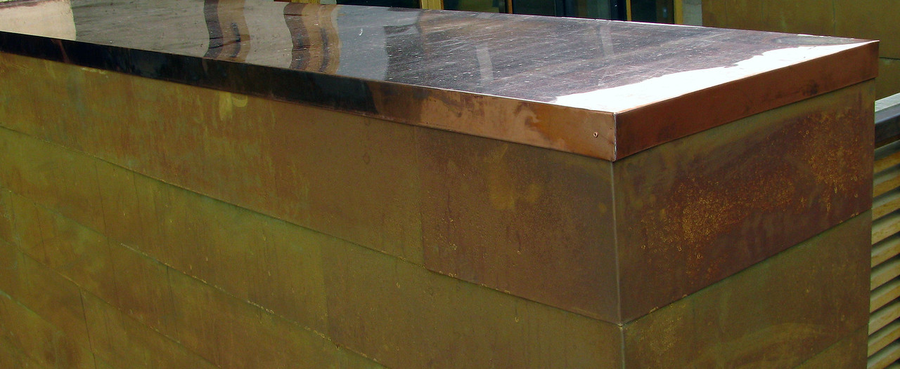 COPPER WALL CAP and RUSTED IRON SIDING - with Randy William Cisneros