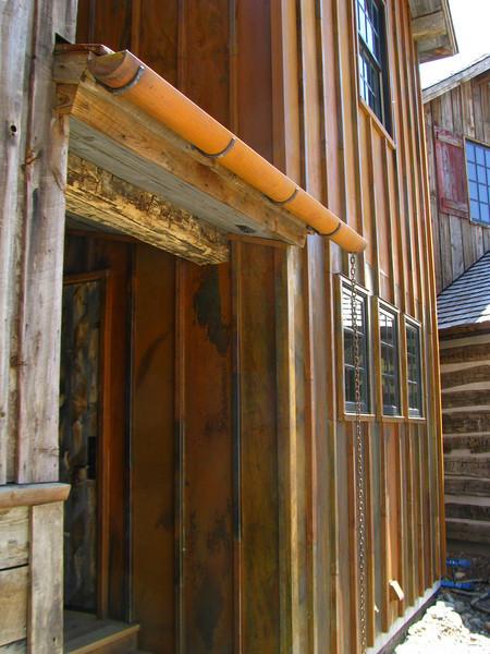 CUSTOM COR TEN HALF ROUND GUTTER. Teton Village, WY