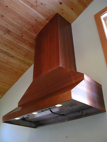 KITCHEN EXHAUST HOOD... covered with patinad copper - Teton Village, WY