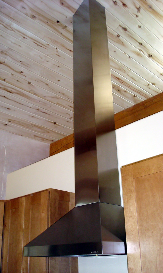 STAINLESS STEEL KITCHEN EXHAUST HOOD with 10 foot CHASE to the ceiling - with Randy William Cisneros