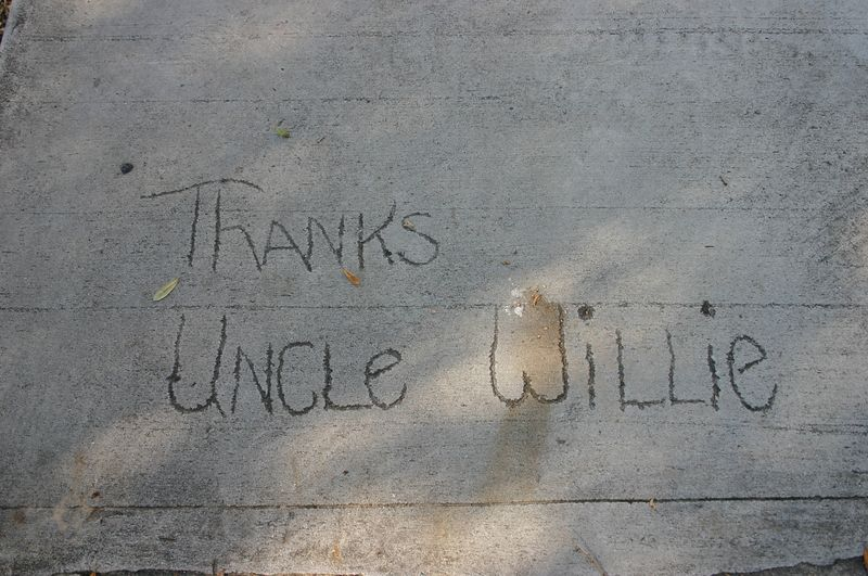 A Quote: Thanks Uncle Willie<br /> Elizabeth St., Charleston, SC