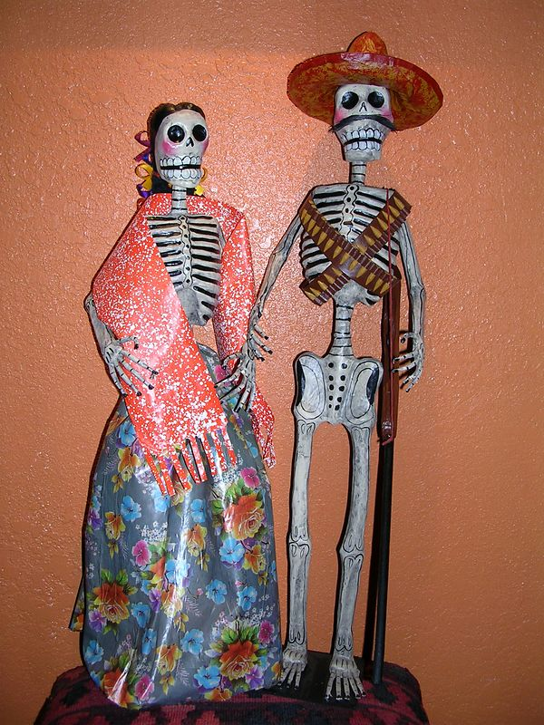 Handmade papier mache Revolutionary couple made for sale to the tourist market and more affluent urban Mexicans.  Artisan unknown.