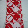 "Pictured are the 4 8""x9""<br /> <br /> Football Bag Set: Includes 8 bags in total with this red/white football icons.<br /> (1) 4""x6"" single ribbon closure, $.50<br /> (1) 4""x8 3/4"" single ribbon closure, $.50<br /> (4) 8""x9"" double ribbon closure, $1 each<br /> (2) 9""x13"" double ribbon closure, $1 each<br /> <br /> Whole set for $5"