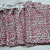 "7"" x 10"" red/grey/white Cheetah Printed Drawstring bags. Set of 12. One Set available, $7"