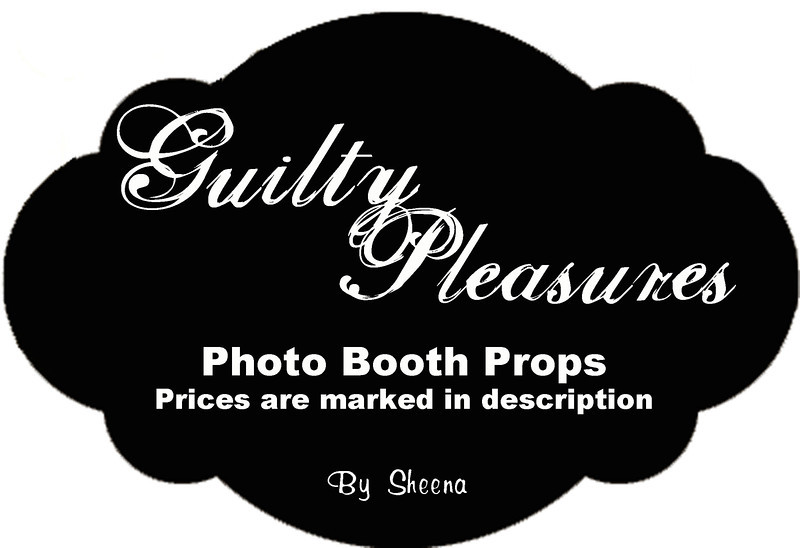 All items after this logo are hand made photo booth props.  Prices are as marked in the description.