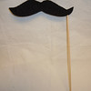 Mustache #2<br /> Fleece and foam board Photo Booth Prop, 1 available.  $2 each