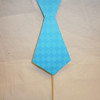 handmade photo booth prop<br /> Double sided tie prop<br /> One side with orange backing with small cheetah like print<br /> the other ocean blue argyle print<br /> <br /> Made of foam board and designer paper.<br /> <br /> One available in this style, $2