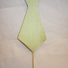 Reverse side<br /> handmade photo booth prop<br /> Double sided tie prop<br /> One side with blue background and lime green polka dots<br /> the other green with blue pin striping<br /> <br /> Made of foam board and designer paper.<br /> <br /> One available in this style, $2