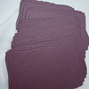 """50 Curved Rectangular Tag, 1 1/2"""" x 2 1/4"""". Deep purple in color.  One set available. $3"""