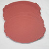 """Set of 50 Scalloped Oval Tags. 2 3/4"""" x 1 7/8"""". Double-Sided: One side rust in color and the other white. Unsure of make and actually lb but heavy cardstock like 110lb. 1 set available. $3 for the set."""