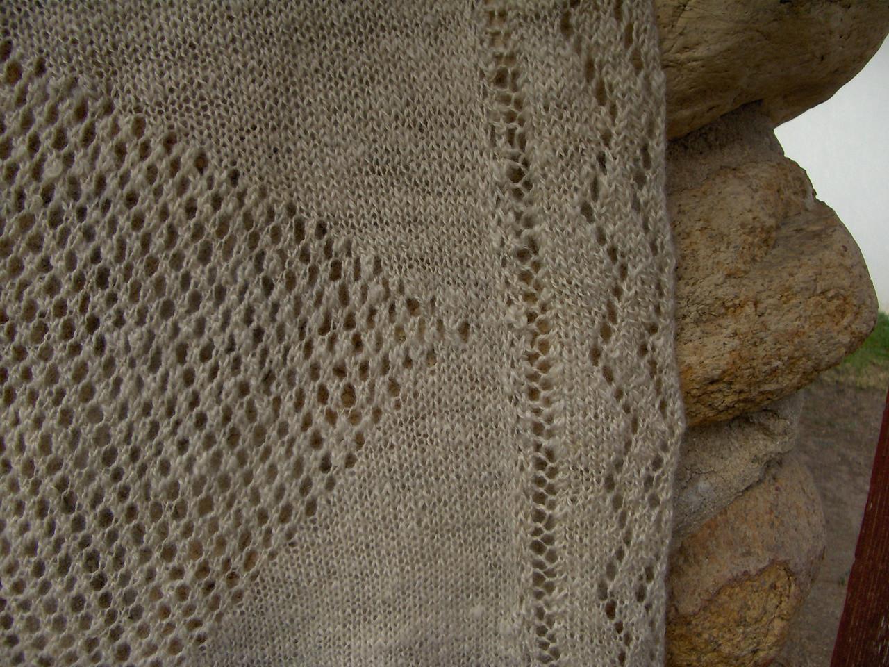 Blanket detail.