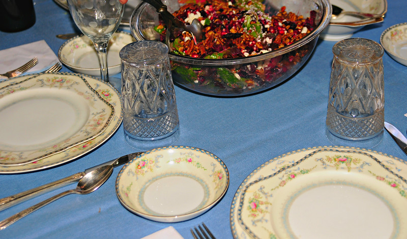 4x7  Crop of Previous - Table at Mom's Thanksgiving Dinner