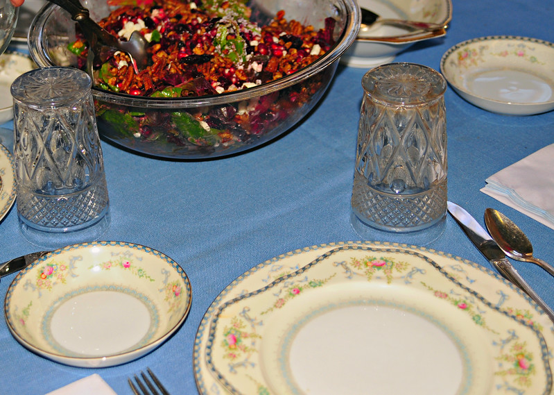 5x7 Crop of Previous - Table at Mom's Thanksgiving Dinner