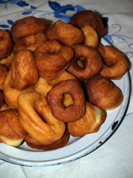 Mom's unglazed Fastnacht Doughnuts on Fastnacht Day, 2008