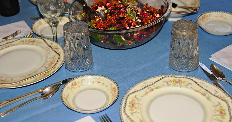 Panoramic Crop of Previous - Table at Mom's Thanksgiving Dinner