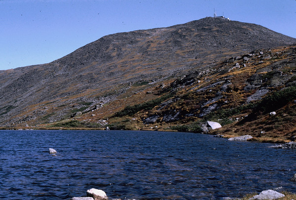 Mt. Washington, NH, summit as seen from Lake of the Clouds (elevation 5032 feet) on the Appalachian Trail to the summit.