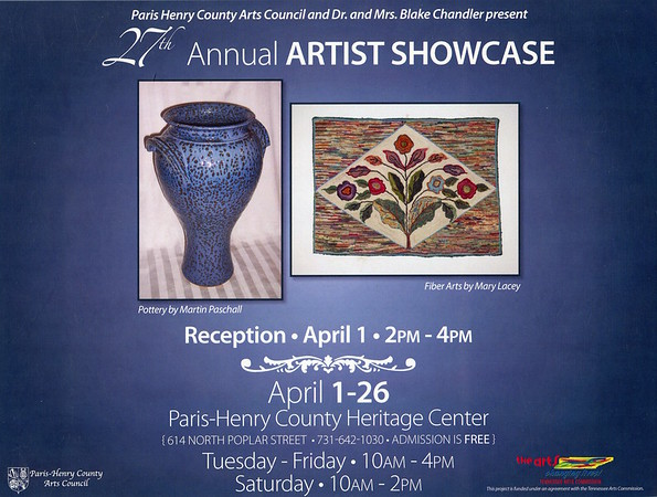 Mary Lacey regularly participates in the Paris-Henry County Art.s Council Artists Showcase