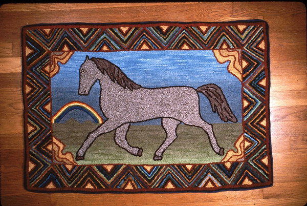 Traditional Rug Hooking Example