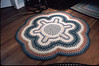 Specialty braided rug design