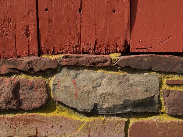 Repainted side of covered bridge, Perkasie, PA