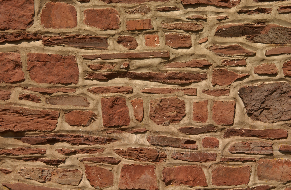 Side wall of old field-stone spring-house on CD campus