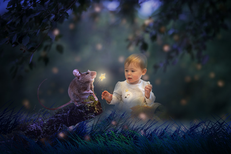 Mouse Magic Digital Background by Tara Mapes