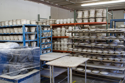 This is a production facility, and there are lots of molds to help shape parts.