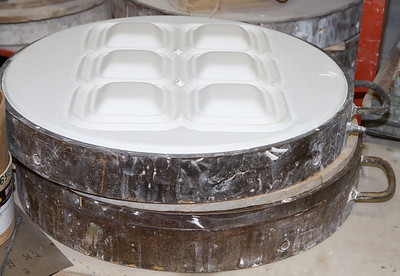 Some plaster molds make multiple copies per use.