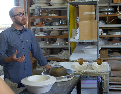These master forms are the basis for making the plaster molds used to shape the clay.