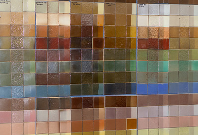 A color map of fired tiles showing what to expect from different glazes.
